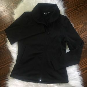 Spyder Fleece Jacket Women's Small Zip Up Black